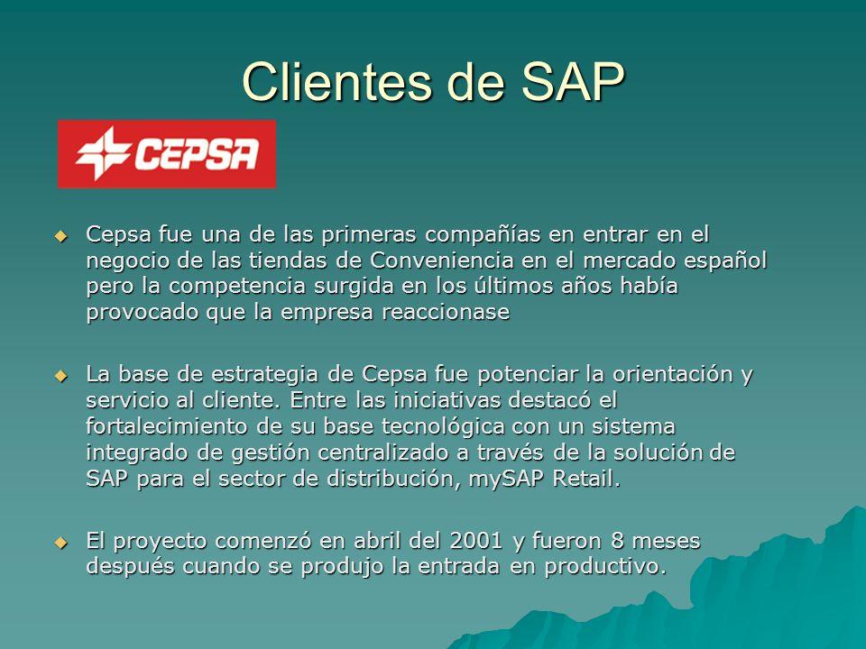 Clientes de SAP Cepsa fue una de las primeras compañías en entrar en el negocio de las tiendas de Conveniencia en el mercado español pero la competenc