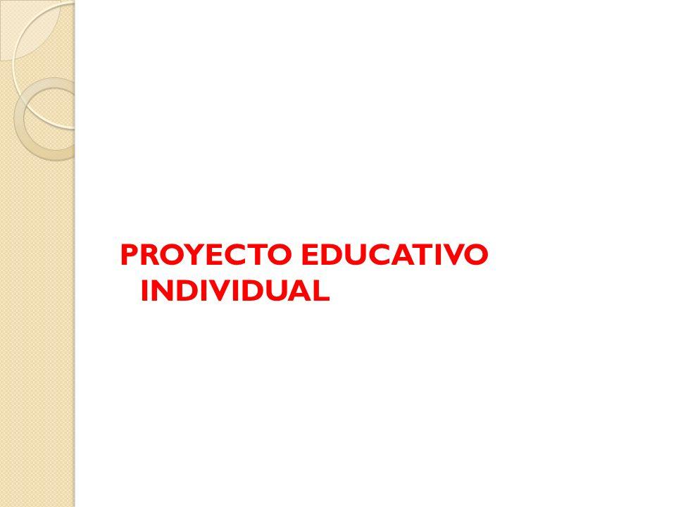 PROYECTO EDUCATIVO INDIVIDUAL