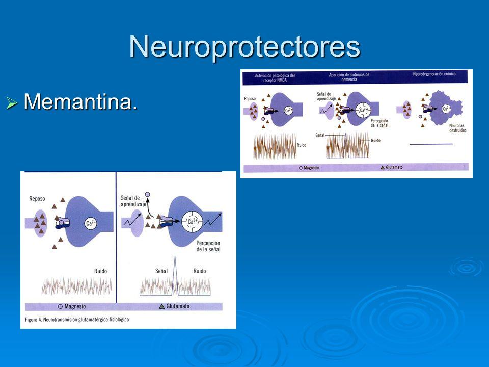 Neuroprotectores Memantina. Memantina.