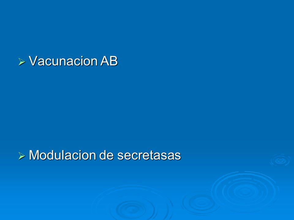 Vacunacion AB Vacunacion AB Modulacion de secretasas Modulacion de secretasas