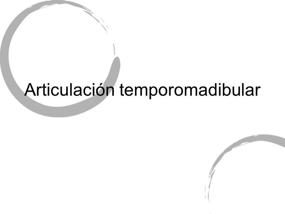 Articulación temporomadibular