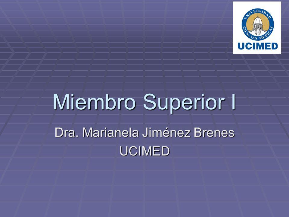 Miembro Superior I Dra. Marianela Jiménez Brenes UCIMED