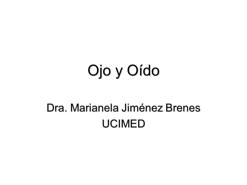 Ojo y Oído Dra. Marianela Jiménez Brenes UCIMED