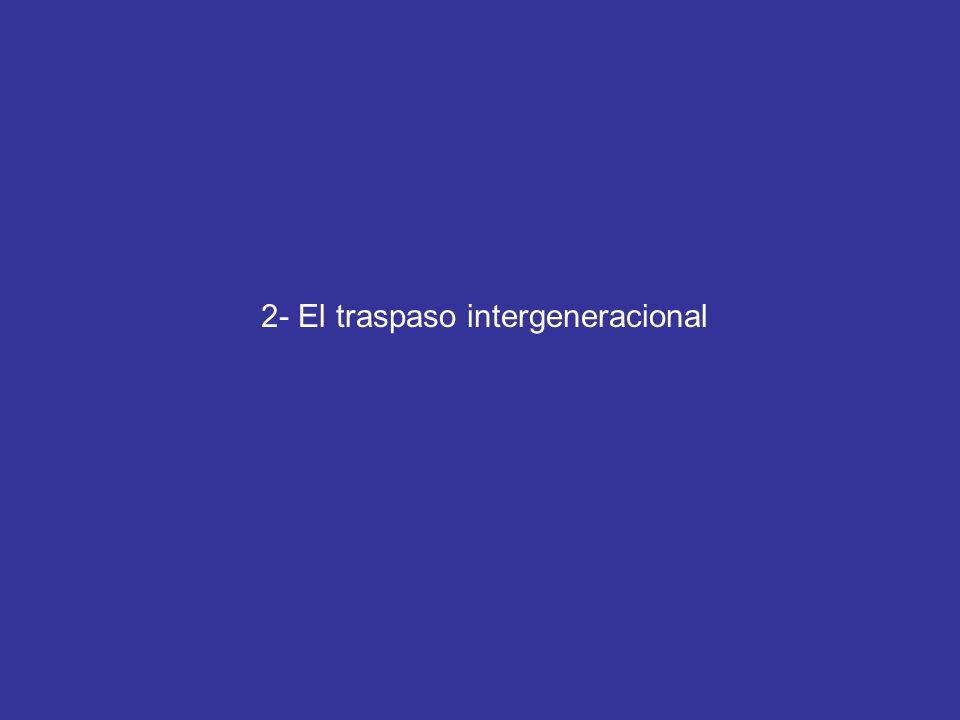 2- El traspaso intergeneracional
