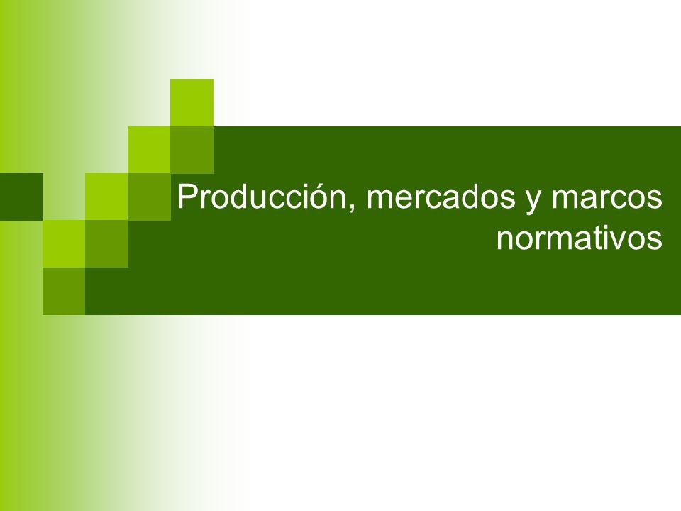 Producción, mercados y marcos normativos