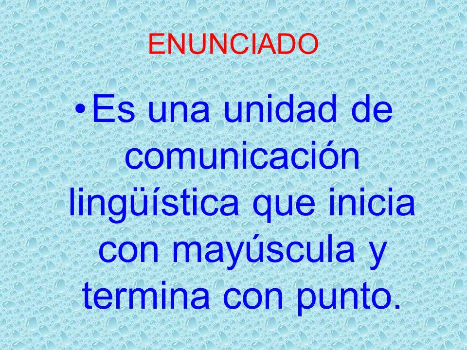 CLASES DE ENUNCIADOS ENUCIADOS DECLARATIVOS Edp POSITIVO Afirma los hechos que comunica.