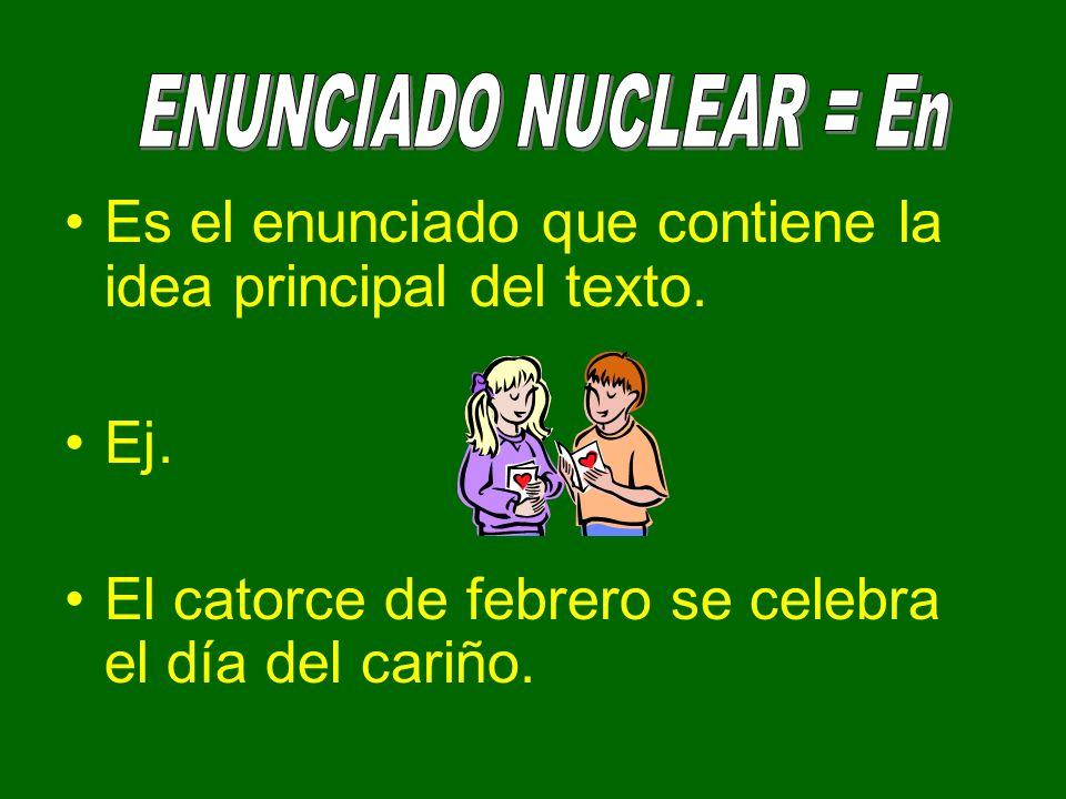 Complementa la información proporcionada por el enunciado nuclear.