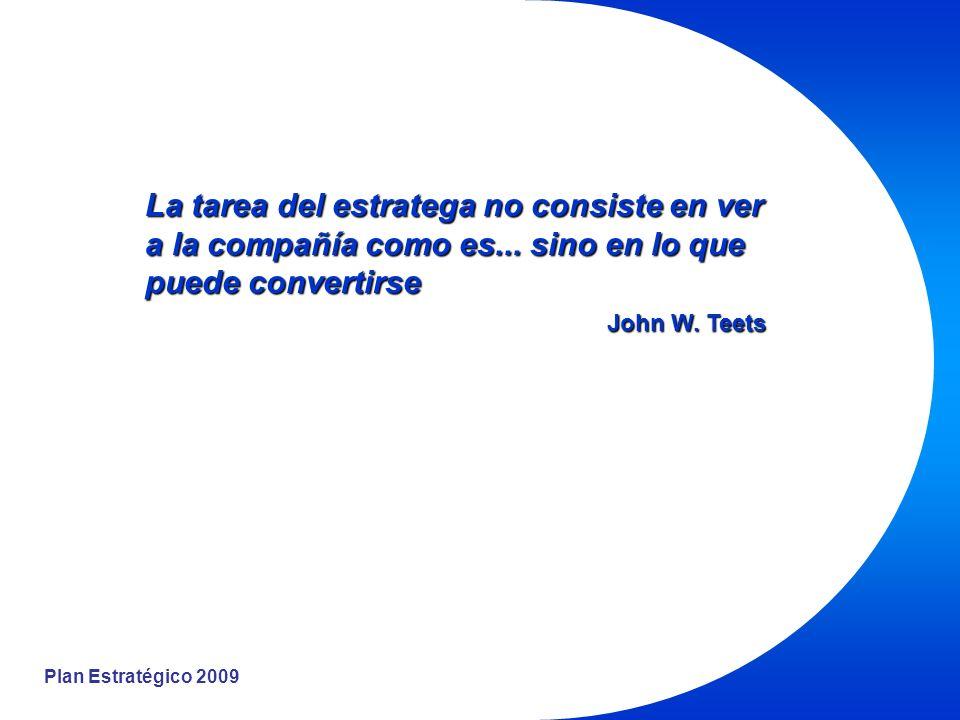 Plan Estratégico 2009 Estados finales de existencia deseables; Metas que una persona quisiera alcanzar durante su vida.