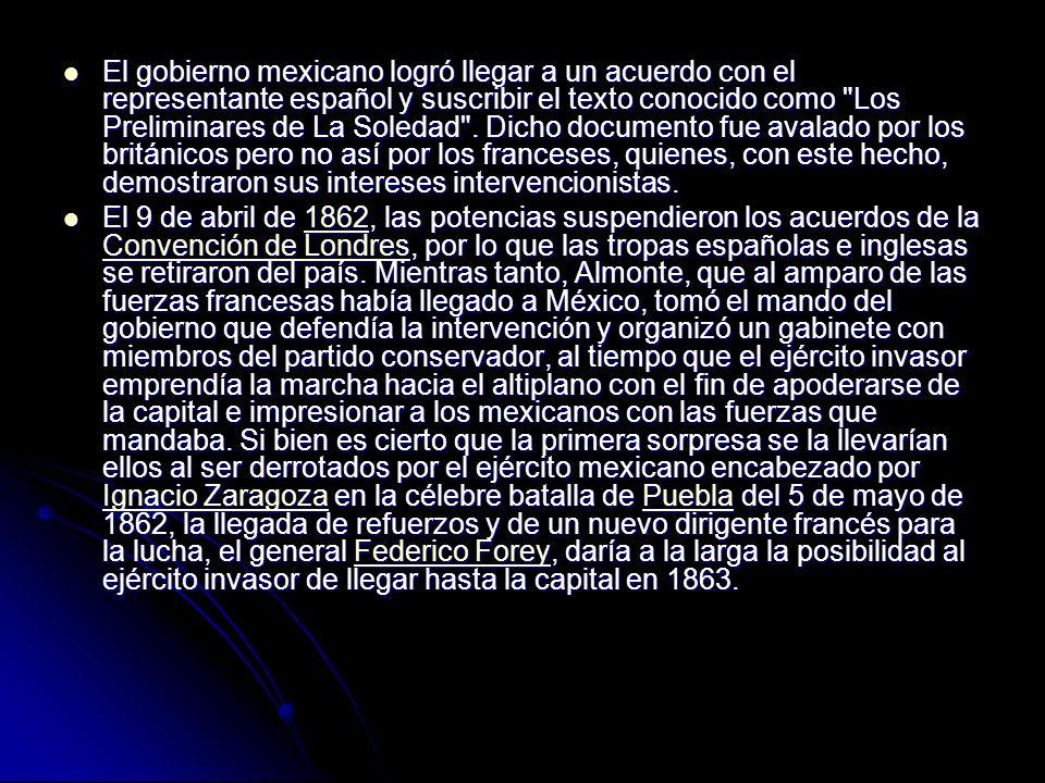 El gobierno mexicano logró llegar a un acuerdo con el representante español y suscribir el texto conocido como