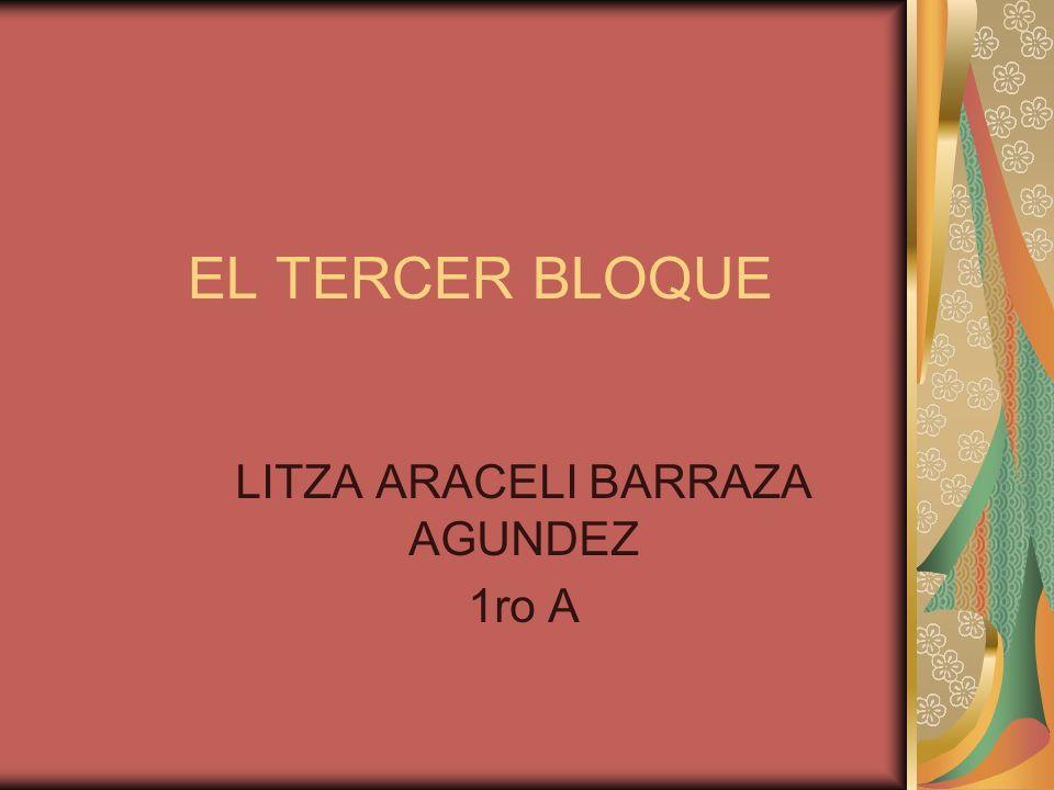 EL TERCER BLOQUE LITZA ARACELI BARRAZA AGUNDEZ 1ro A