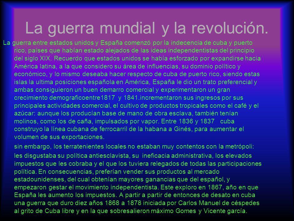 la revolución de México y rusa.