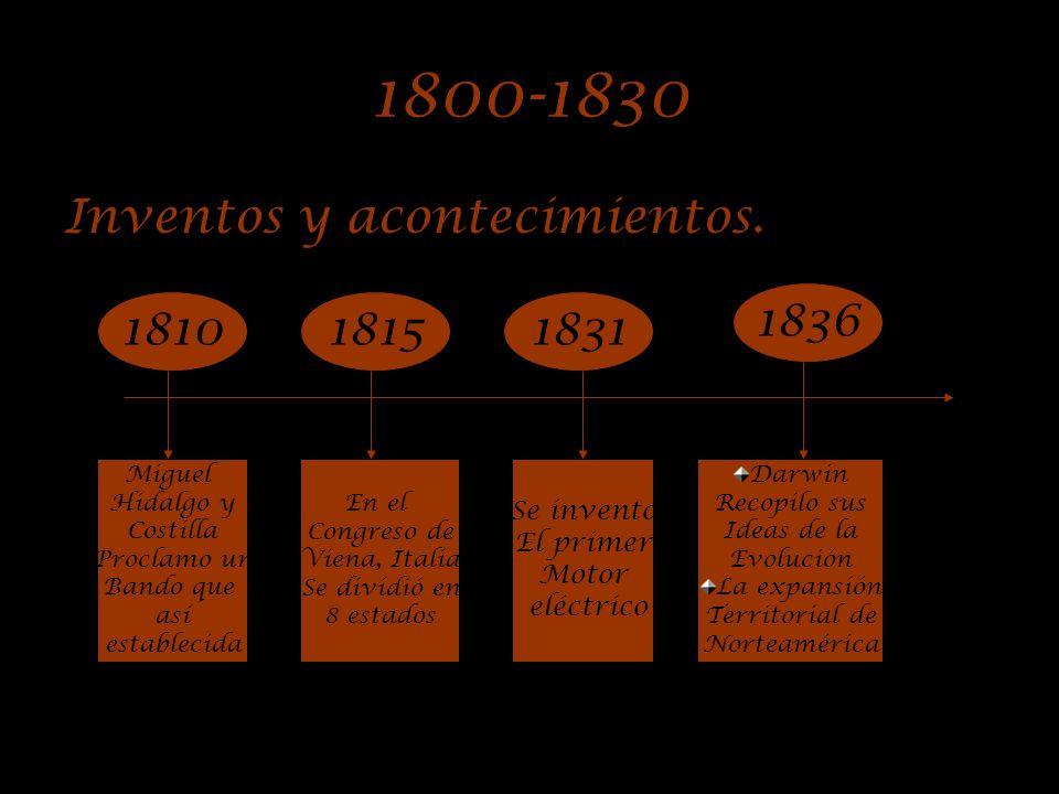 De mediados del siglo XIX hasta principios del siglo XX Líneas del tiempo