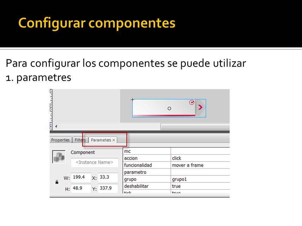 2. panel inspector de componente