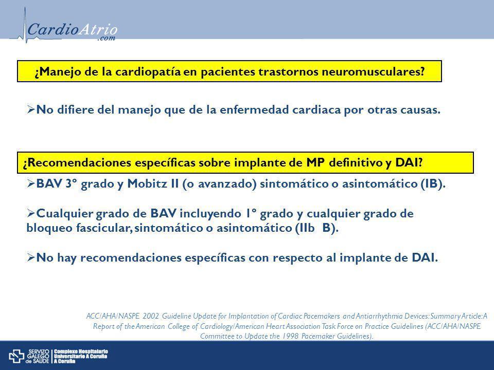 ¿Manejo de la cardiopatía en pacientes trastornos neuromusculares.