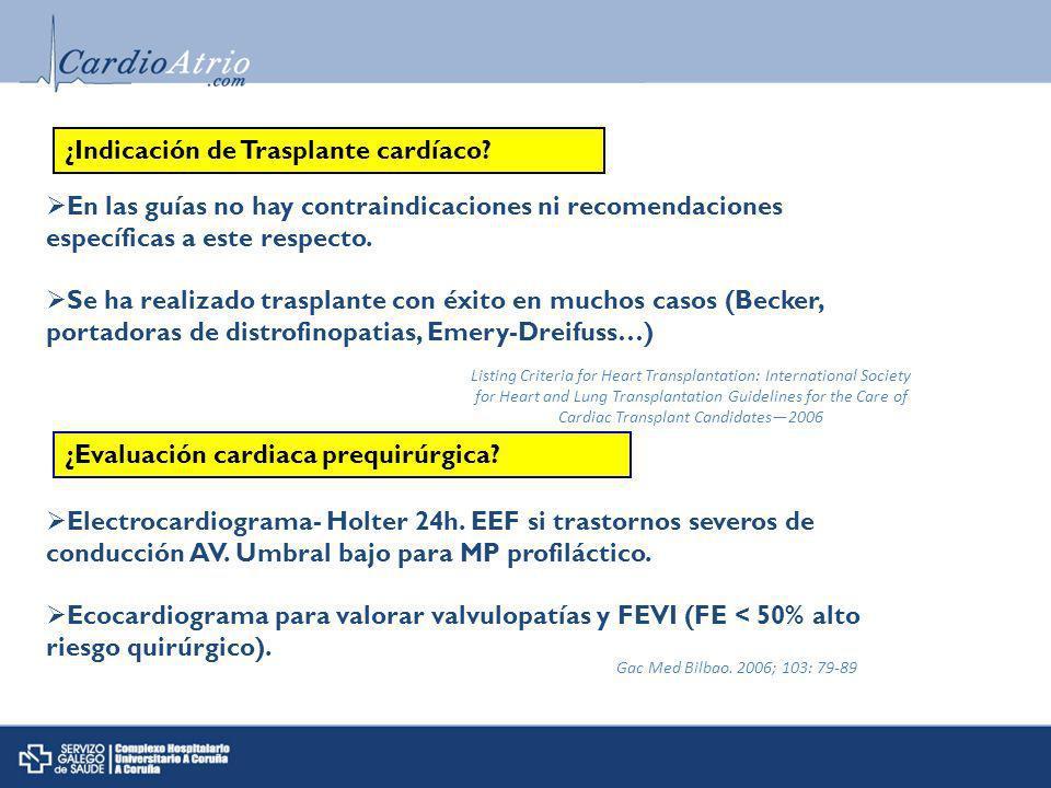 ¿Indicación de Trasplante cardíaco.¿Evaluación cardiaca prequirúrgica.