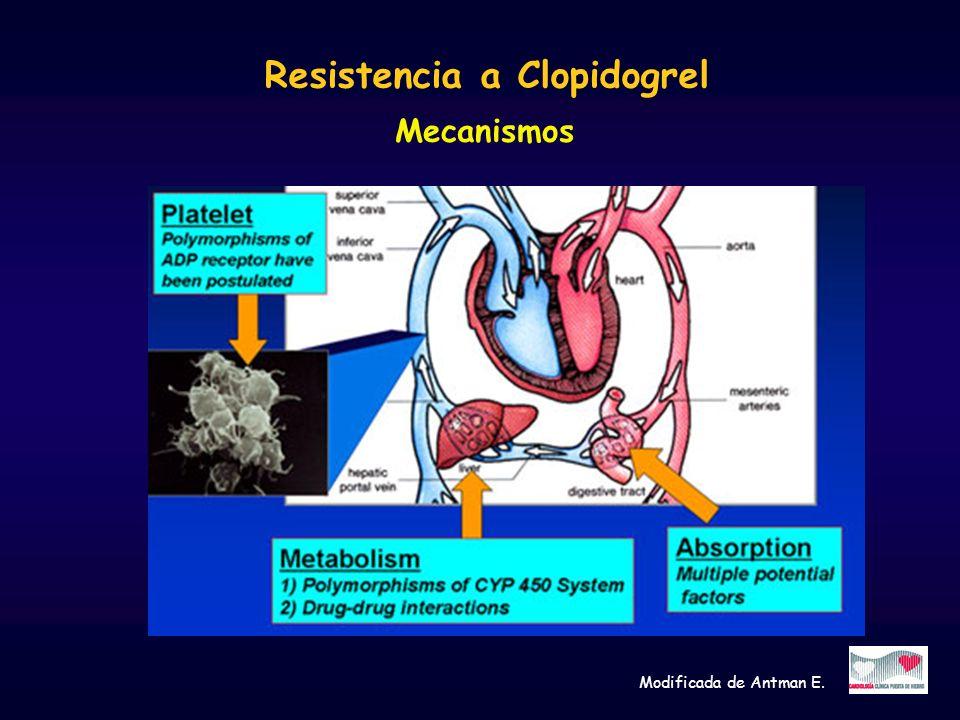 Resistencia a Clopidogrel Mecanismos Modificada de Antman E.