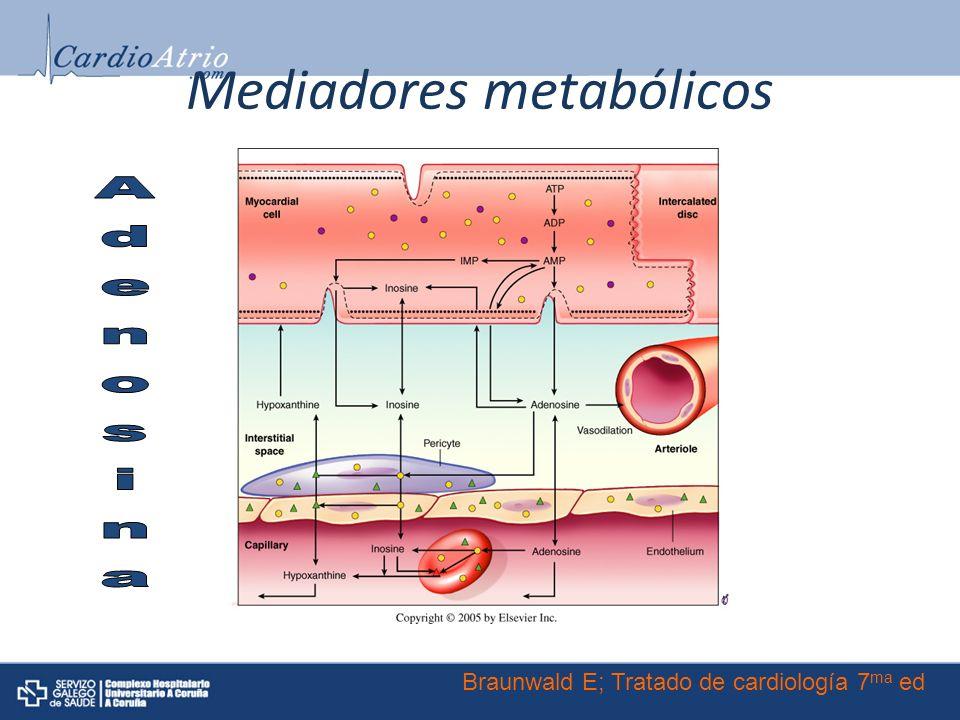 Mediadores metabólicos Braunwald E; Tratado de cardiología 7 ma ed