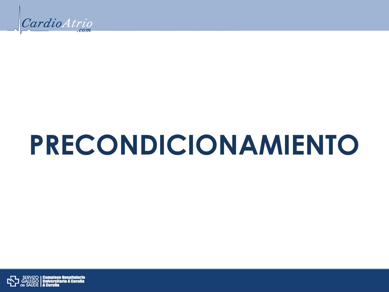 PRECONDICIONAMIENTO