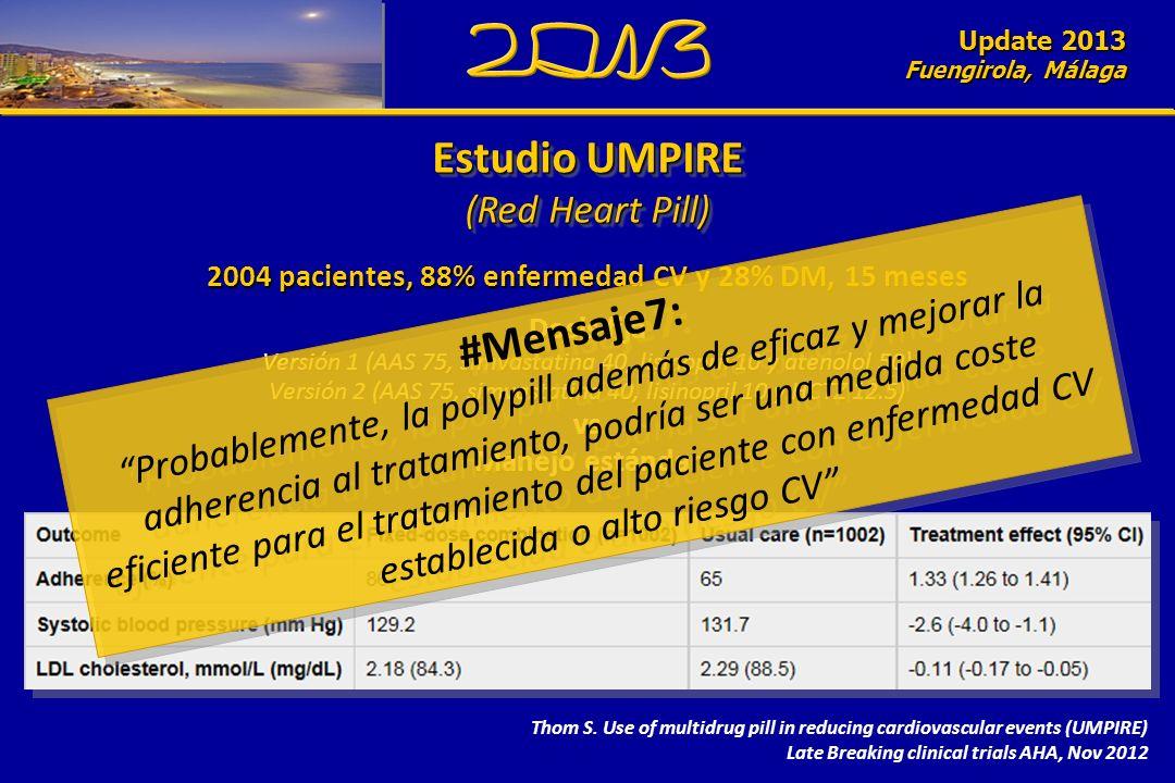 Update 2010 Fuengirola, Málaga Estudio UMPIRE (Red Heart Pill) Estudio UMPIRE (Red Heart Pill) Update 2013 Fuengirola, Málaga Thom S. Use of multidrug