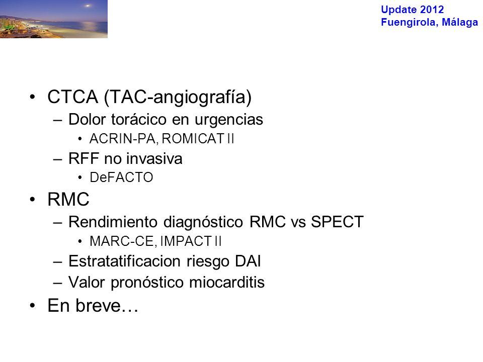 Update 2012 Fuengirola, Málaga FEVI <30% FEVI >30% Klem I et al, JACC 2012;60:408-20 Resultados