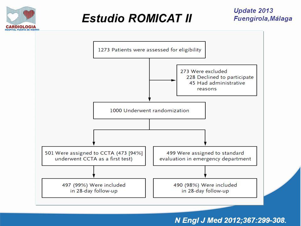 Update 2013 Fuengirola,Málaga Estudio ROMICAT II N Engl J Med 2012;367:299-308.