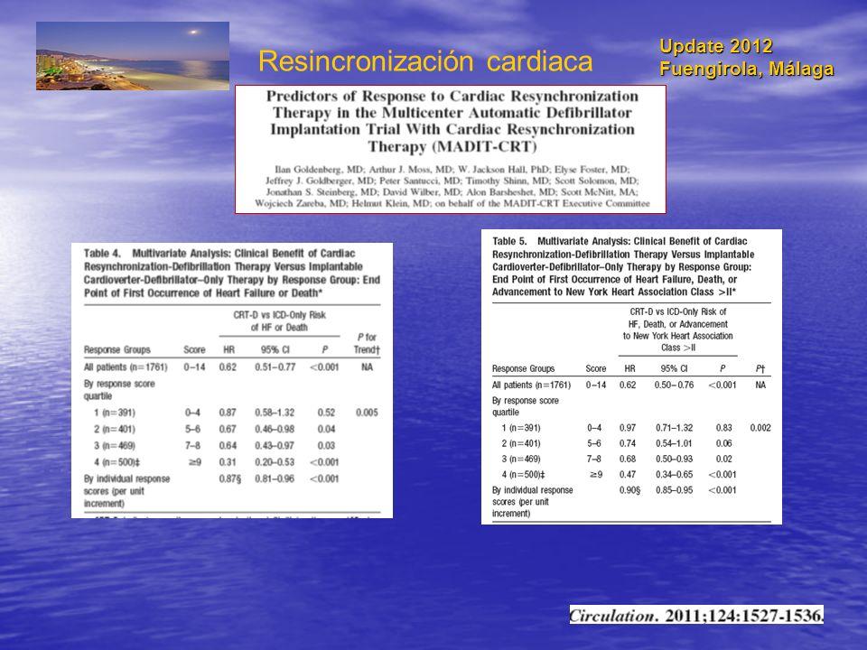 Resincronización cardiaca Update 2012 Fuengirola, Málaga