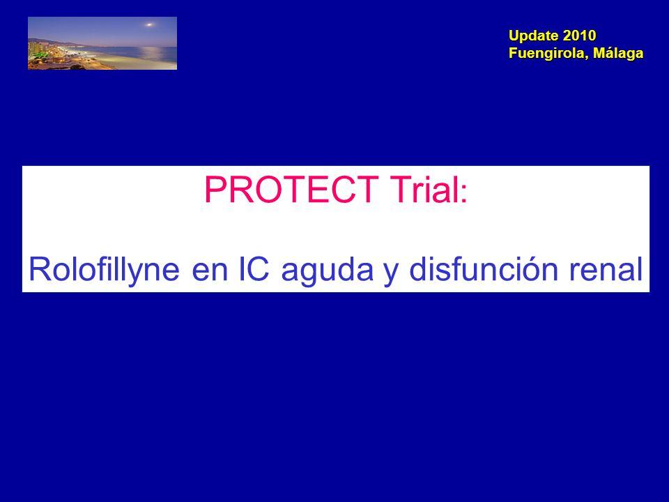 Update 2010 Fuengirola, Málaga Adenosina Receptores A1 Reabsorción de Na+ Vasoconstricción Adenosina Receptor A1 Vasoconstricción Niveles de adenosina aumentados en IC Disfunción Renal