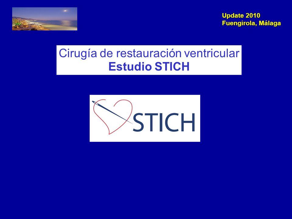 Update 2010 Fuengirola, Málaga NEJM 2009; 360: 1781-4 Cirugía de Reconstrucción ventricular