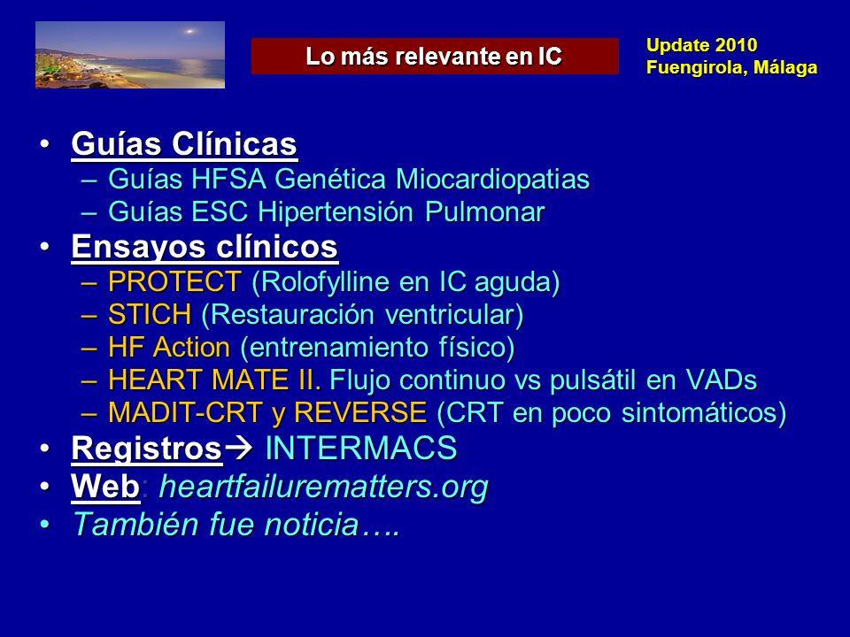 Update 2010 Fuengirola, Málaga J Cardiac Fail 2009; 15: 83-97 Extensa evidencia de base genética en HCMExtensa evidencia de base genética en HCM Evidencia de base genética en DCMEvidencia de base genética en DCM –FDC (familial DCM): DCM de causa desconocida con 2 miembros afectos –DCM esporádica ¿Base genética.