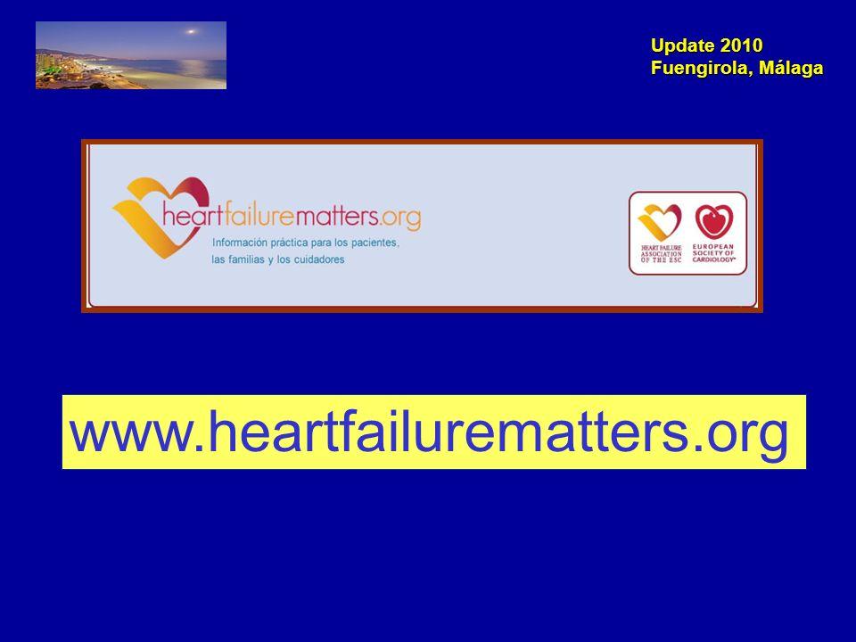 Update 2010 Fuengirola, Málaga Cardiotoxicidad de quimioterapia e IC.