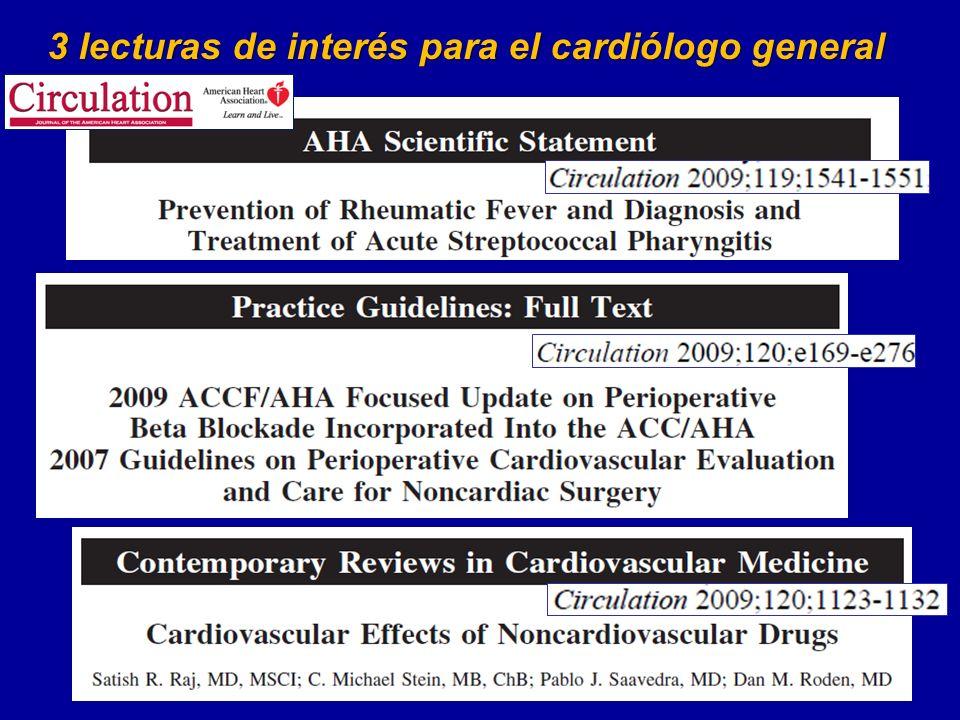 3 lecturas de interés para el cardiólogo general