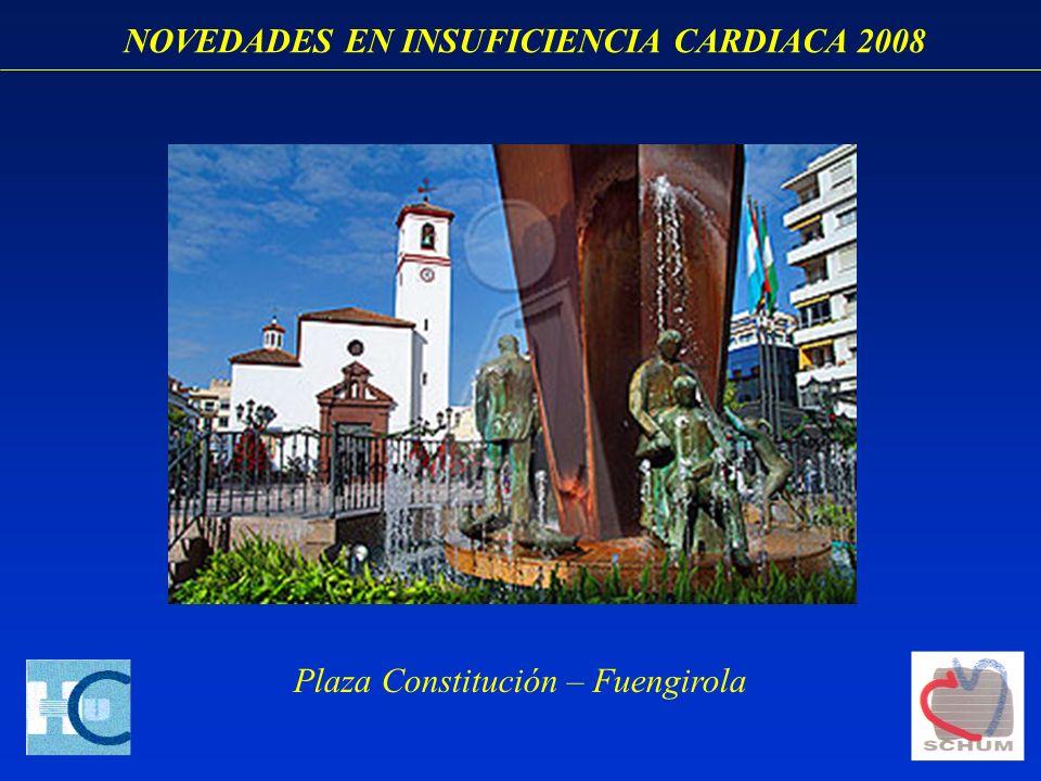 NOVEDADES EN INSUFICIENCIA CARDIACA 2008 Plaza Constitución – Fuengirola