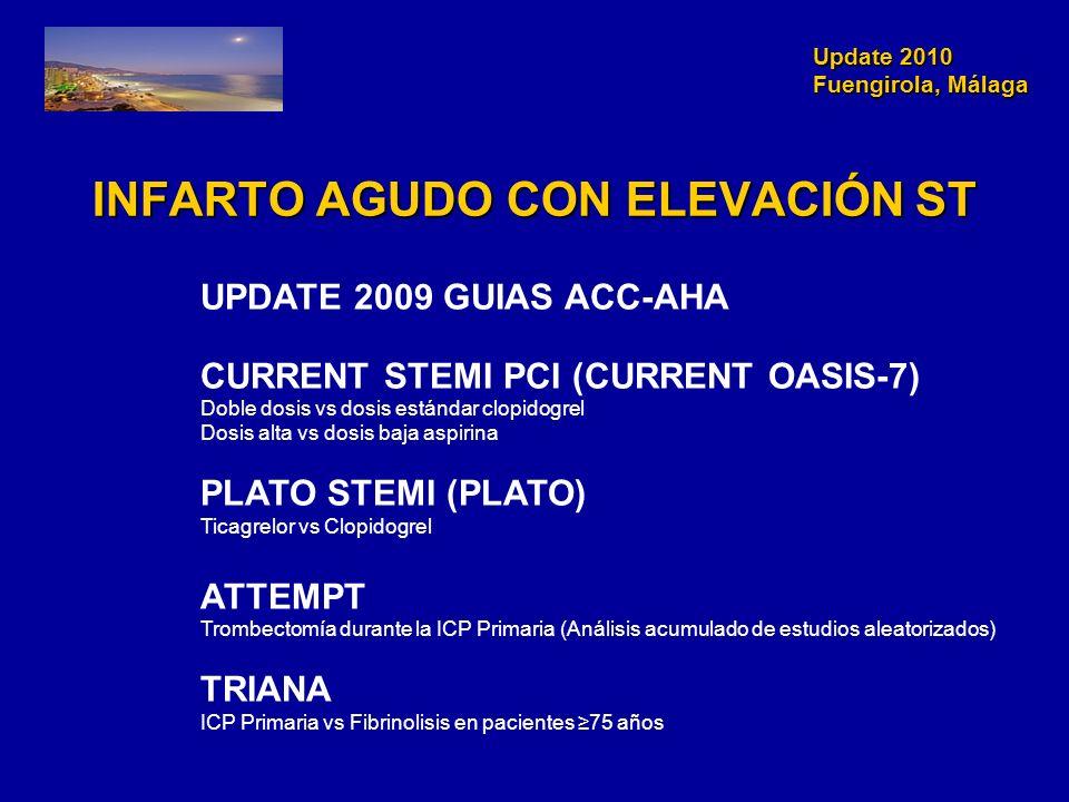 Update 2010 Fuengirola, Málaga Update 2010 Fuengirola, Málaga INFARTO AGUDO CON ELEVACIÓN ST UPDATE 2009 GUIAS ACC-AHA CURRENT STEMI PCI (CURRENT OASI