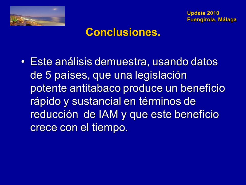 Update 2010 Fuengirola, Málaga Conclusiones.