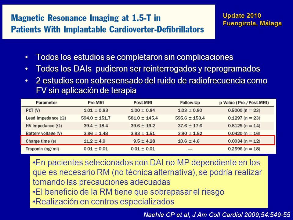 Update 2010 Fuengirola, Málaga Todos los estudios se completaron sin complicacionesTodos los estudios se completaron sin complicaciones Todos los DAIs