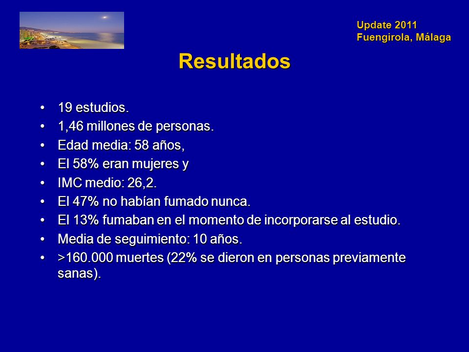 Update 2011 Fuengirola, Málaga Resultados 19 estudios.19 estudios.