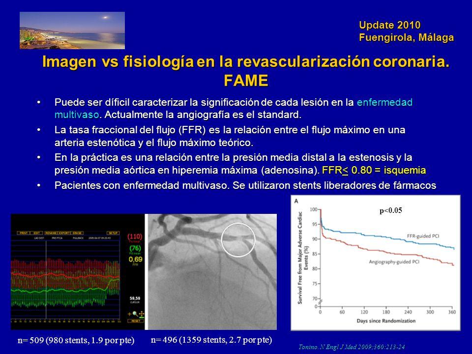 Update 2010 Fuengirola, Málaga Imagen vs fisiología en la revascularización coronaria. FAME Puede ser díficil caracterizar la significación de cada le
