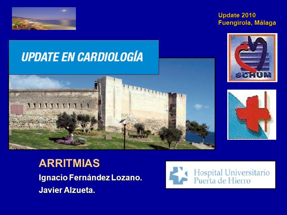 Update 2010 Fuengirola, Málaga RR 0,85 (IC del 95%: 0,72-0,99) p = 0,04 (sup) Mortalidad vascular Connolly SJ., et al.