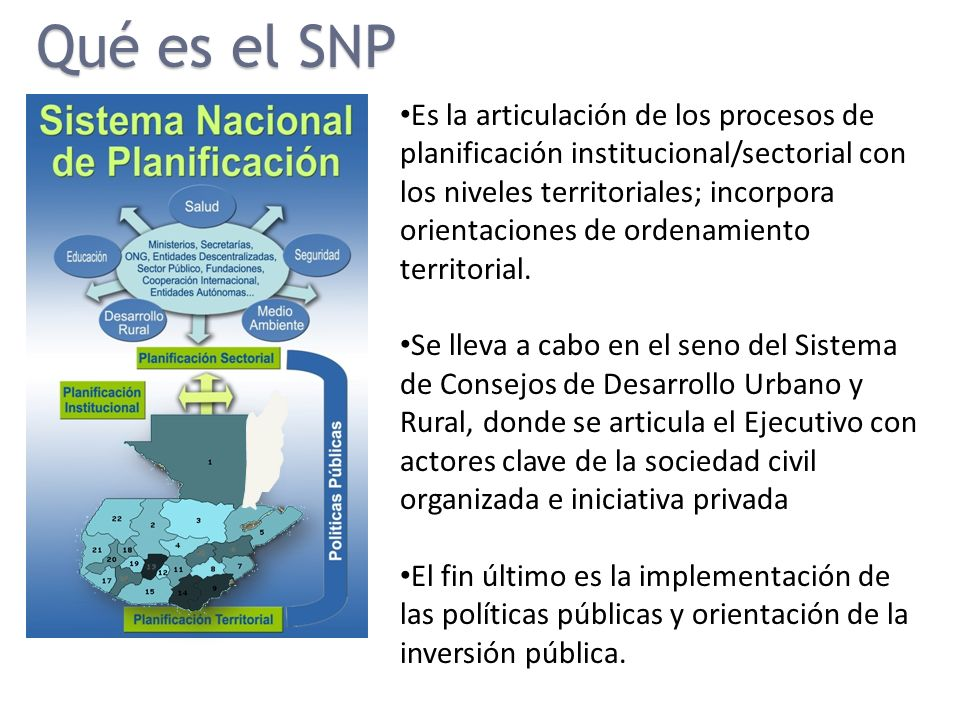 Es la articulación de los procesos de planificación institucional/sectorial con los niveles territoriales; incorpora orientaciones de ordenamiento ter