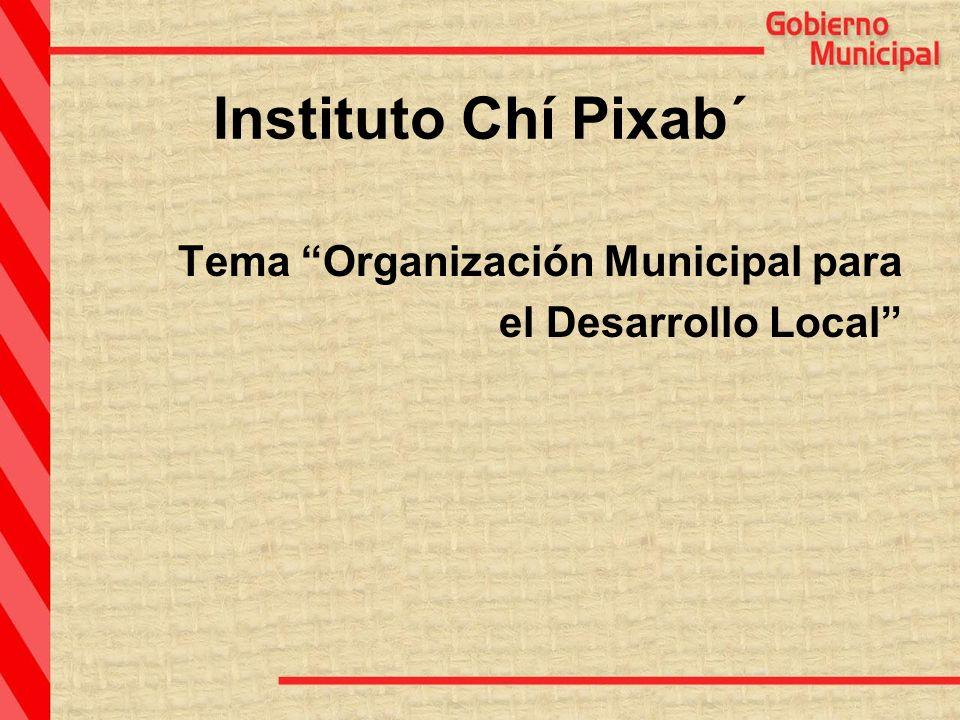 Instituto Chí Pixab´ Tema Organización Municipal para el Desarrollo Local