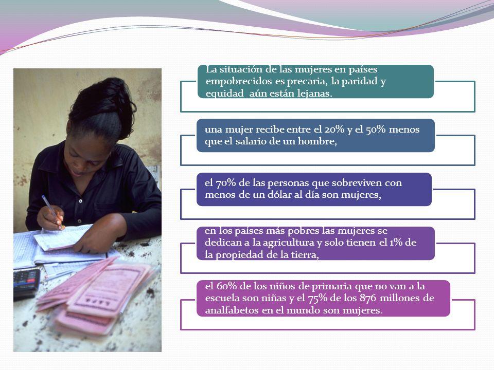 «Promover la igualdad entre los sexos y la autonomía de la mujer como medios eficaces de combatir la pobreza, el hambre y las enfermedades y de estimular un desarrollo verdaderamente sostenible» (Declaración del Milenio, 2000: 6)