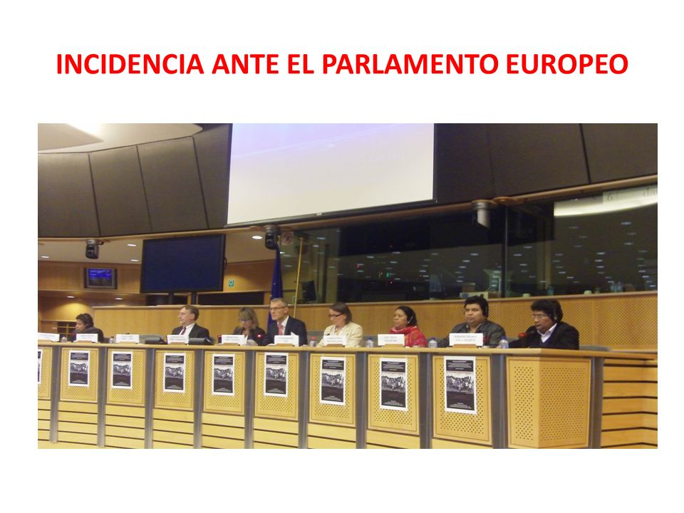 INCIDENCIA ANTE EL PARLAMENTO EUROPEO
