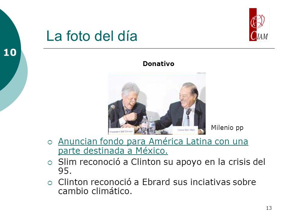 13 La foto del día Anuncian fondo para América Latina con una parte destinada a México. Anuncian fondo para América Latina con una parte destinada a M