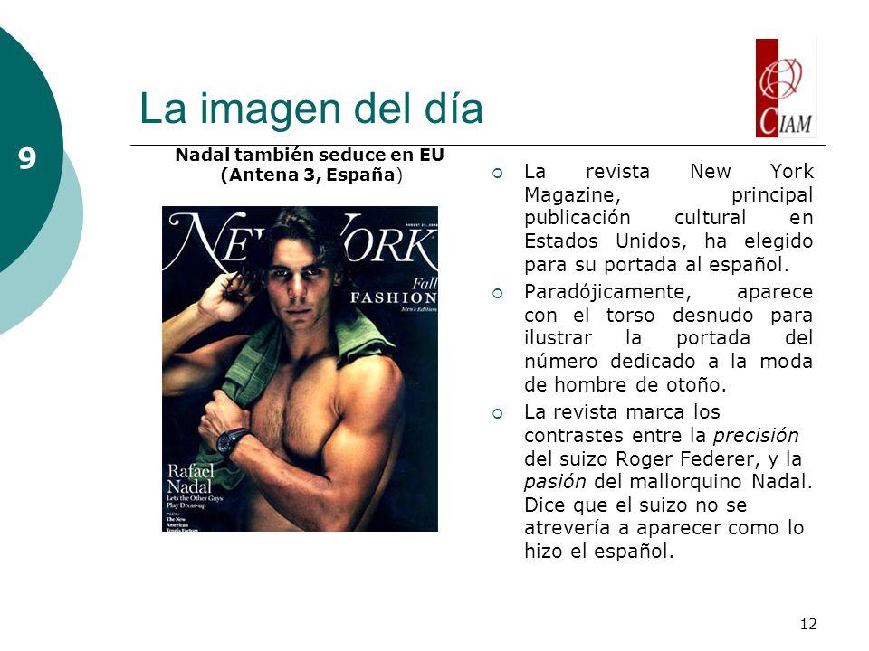 12 La imagen del día La revista New York Magazine, principal publicación cultural en Estados Unidos, ha elegido para su portada al español. Paradójica