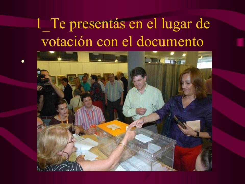 1_Te presentás en el lugar de votación con el documento