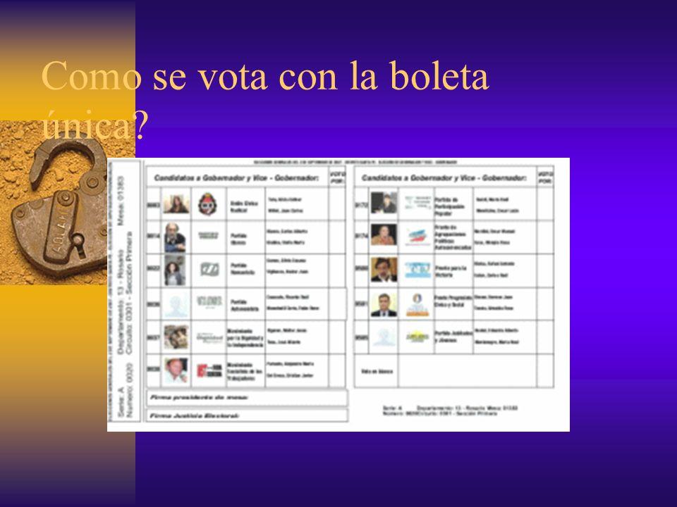 RECORDA A cada opción electoral le corresponde un casillero, donde debés hacer una sola marca para qe tu voto sea válido.