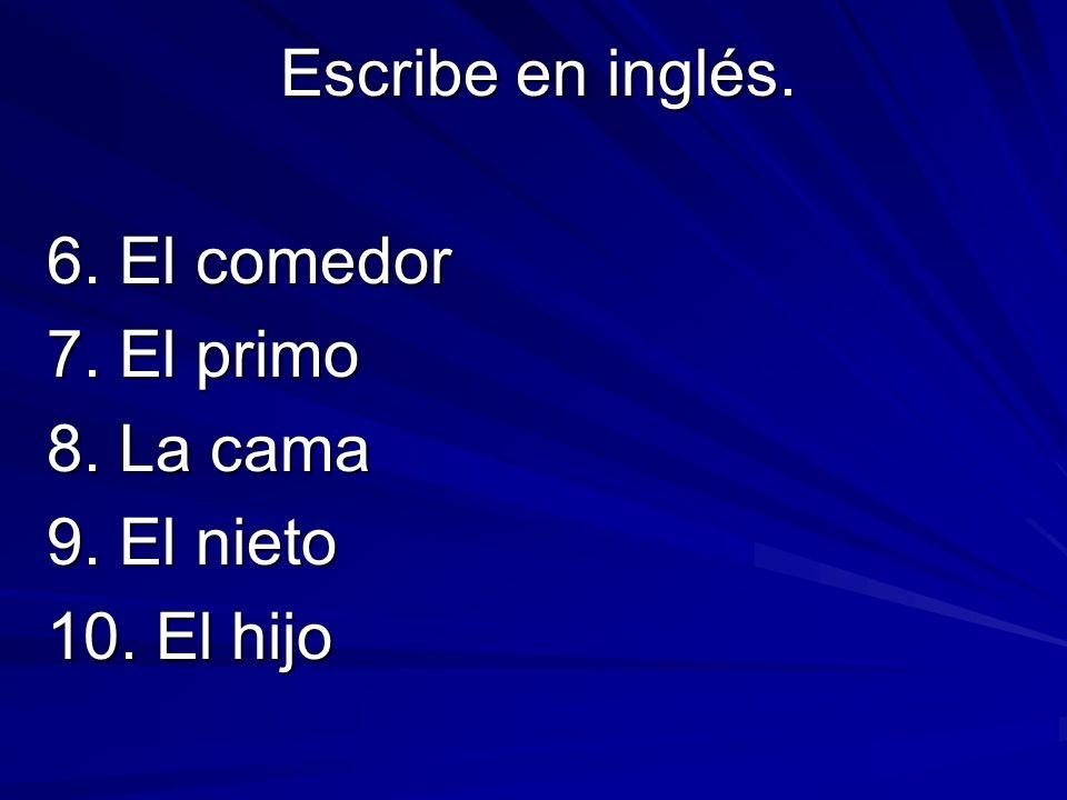 Escribe la forma yo de los siguientes verbos.Yo… 1.