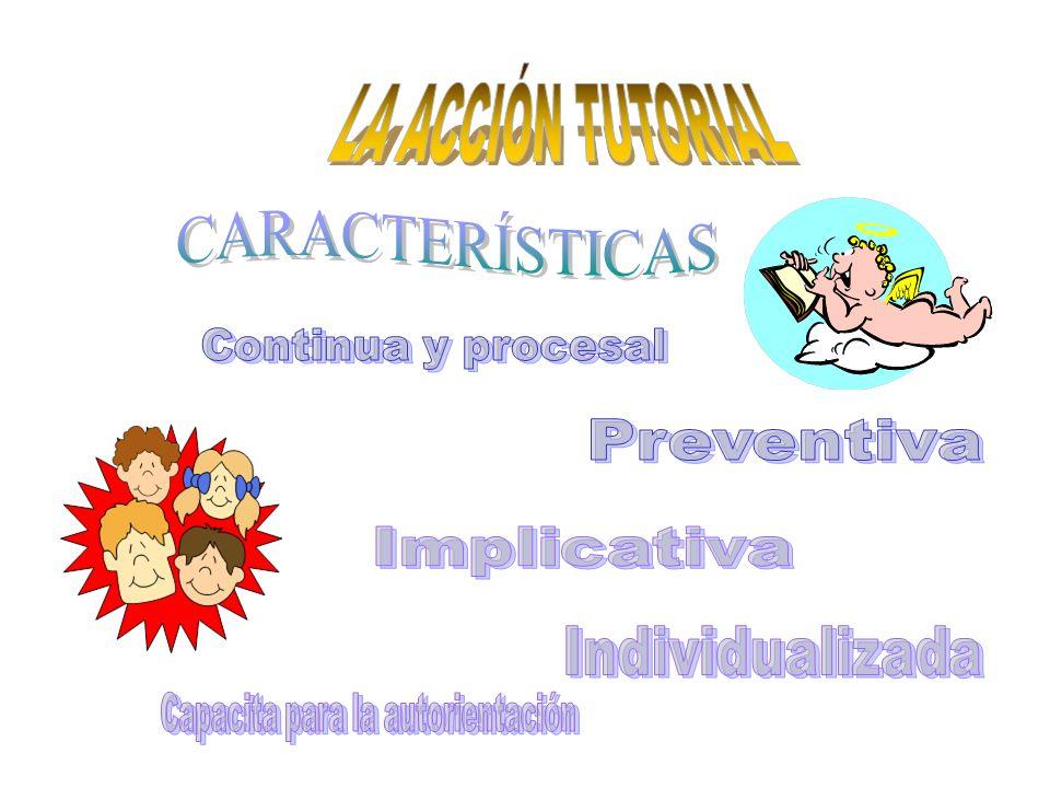 PARTICIPACIÓN DE LOS DISTINTOS AGENTES EN LA ACCIÓN TUTORIAL Ámbitos de intervención Orientador Profesores de apoyo a los distintos ámbitos Especialistas en Pedagogía.