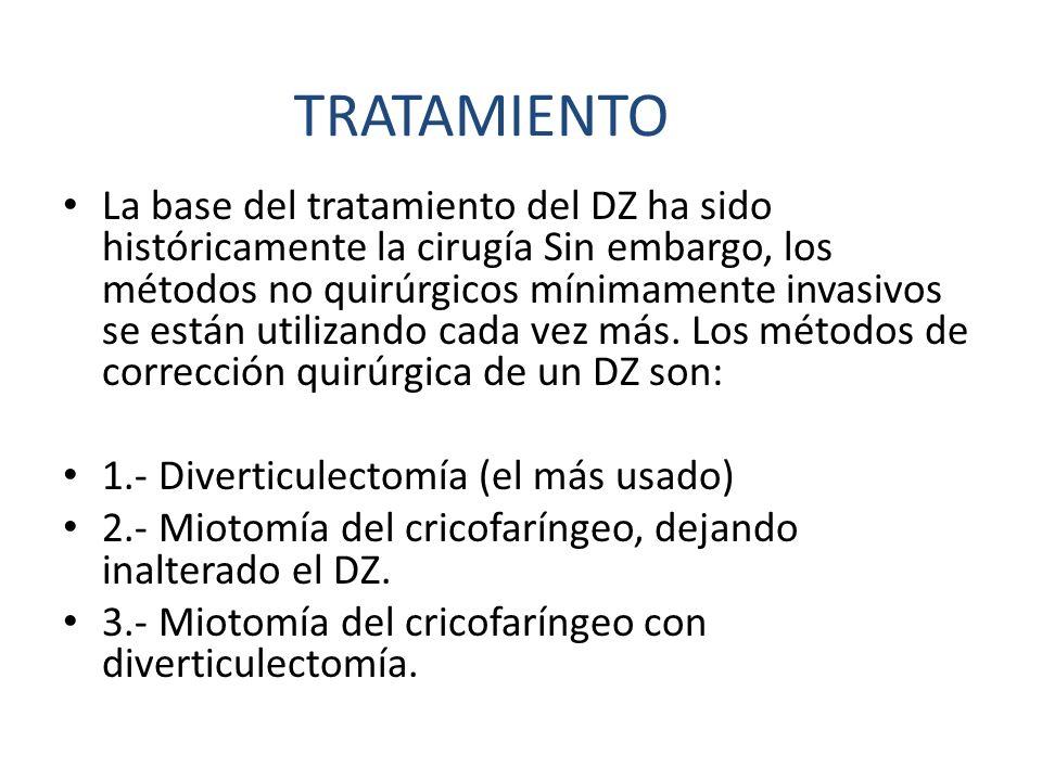 La base del tratamiento del DZ ha sido históricamente la cirugía Sin embargo, los métodos no quirúrgicos mínimamente invasivos se están utilizando cad
