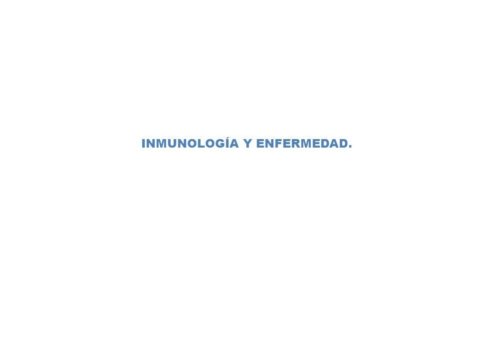 INMUNOLOGÍA Y ENFERMEDAD.